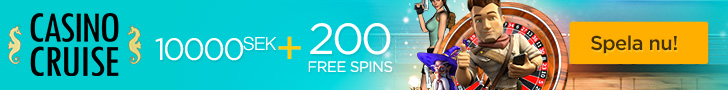 Casino Cruise bonuskod 200 free spins