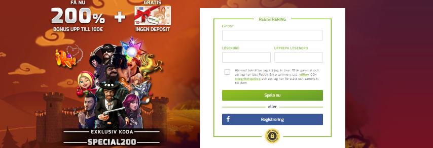 Lapalingo bonuskod 200% upp till 1 000 kr i unik casino bonus