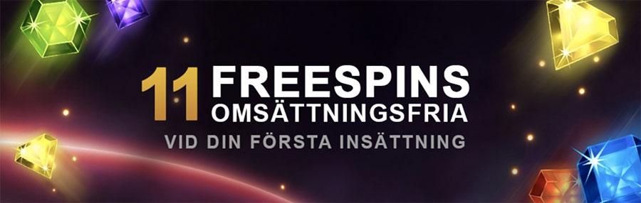 VideoSlots casino free spins utan omsättningskrav
