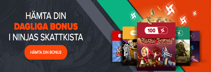 Ninja Casino bonuskod dagliga free spins