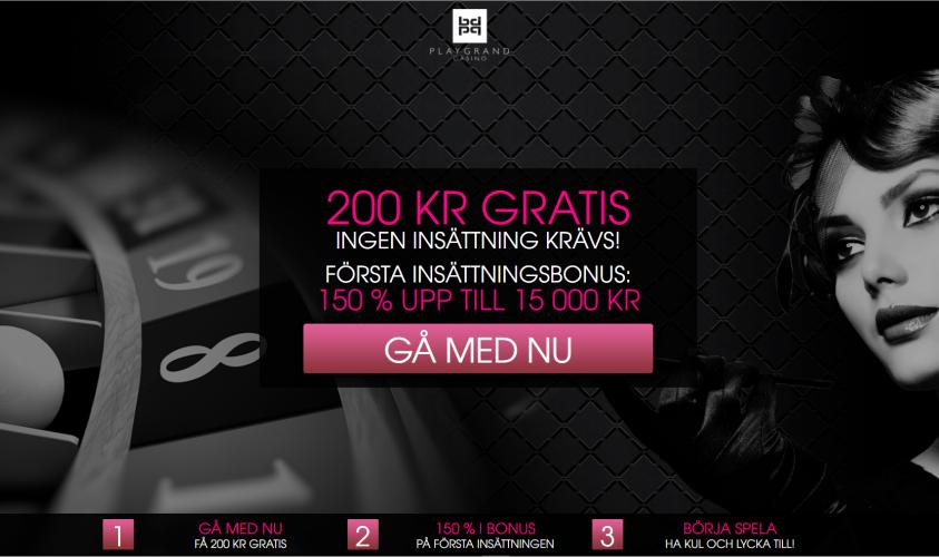 PlayGrand casino 200 kr gratis