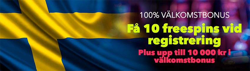 NightRush casino 10 free spins utan bonuskod vid registrering