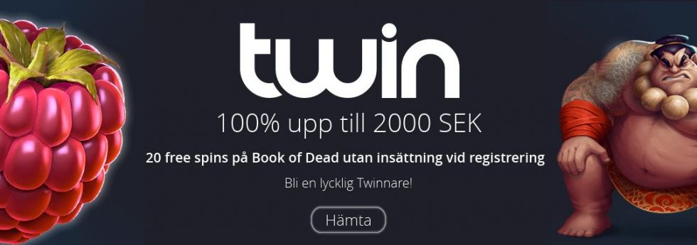 twin casino no deposit bonus - 20 free spins på Book of Dead utan insättning vid registrering!